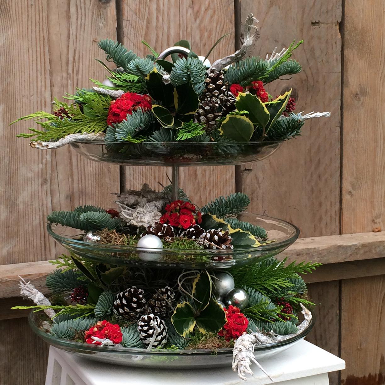 Kerstbomen en kerstukken